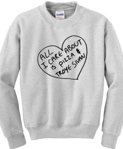 All I care about is pizza and Troye Sivan sweatshirt