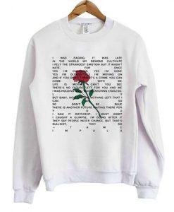 Tame Impala Yes I'm changing lyrics Sweatshirt