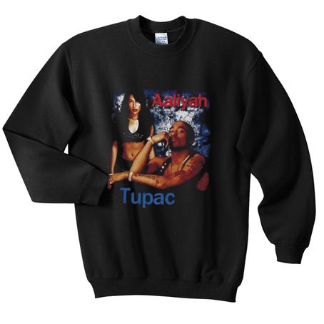 Aaliyah Tupac Sweatshirt Black