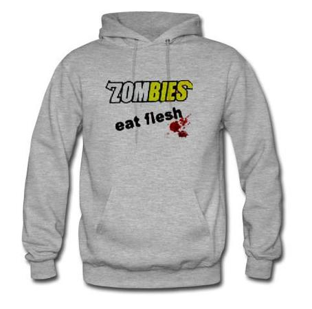 Zombie Eat Flesh Graphic Hoodie