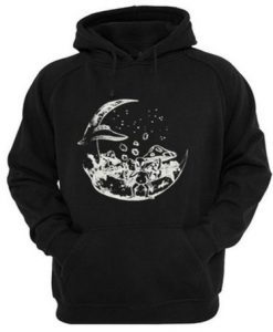 Alien On The Moon Hoodie