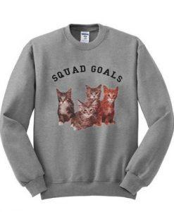Squad Goals Cats Sweatshirt