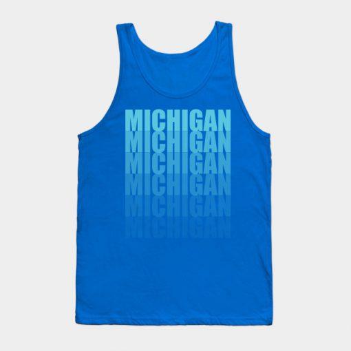 Michigan Gradient in Teal Tank Top