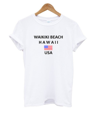Waikiki Beach Hawaii USA T Shirt