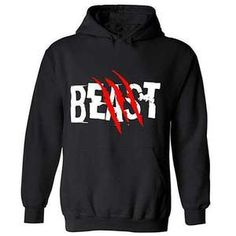 Beast And Scratch Graphic hoodie